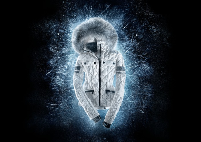 Toni Sailor Ice Jacket is a composing by Schalterhalle post production and Tobias Winkler - Retouching Munich.