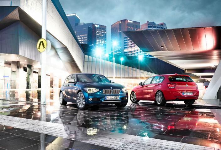 BMW 1er – Melbourne 01 ist ein Composing der Schalterhalle Postproduktion und Tobias Winkler - Bildbearbeitung München.