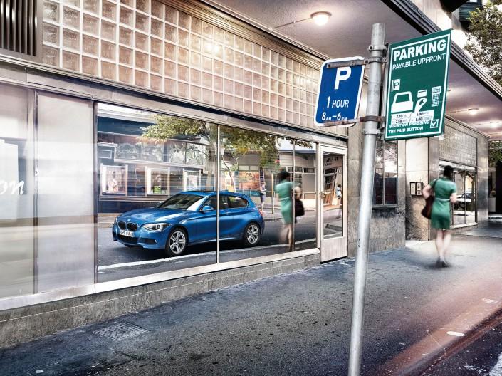BMW 1er - Kapstadt 02 ist ein Look-Composing der Schalterhalle Postproduktion und Tobias Winkler - Bildbearbeitung München.