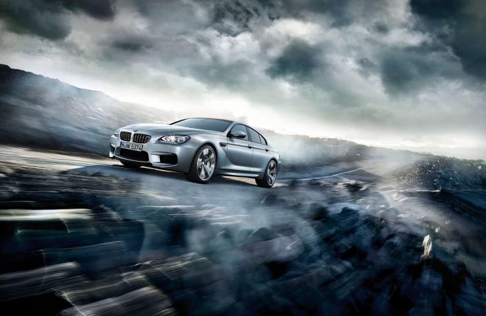 BMW M6 Gran Coupé Mattlack - Hawaii 5 ist ein Composing der Schalterhalle Postproduktion und Tobias Winkler - Bildbearbeitung München.