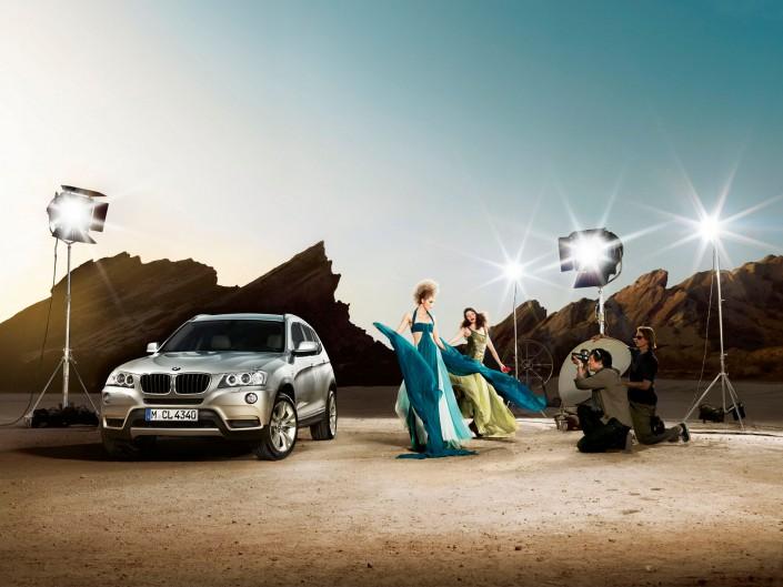 BMW X3 04 Phoenix ist ein Car Look Composing der Schalterhalle Postproduktion und Tobias Winkler - Bildbearbeitung München.