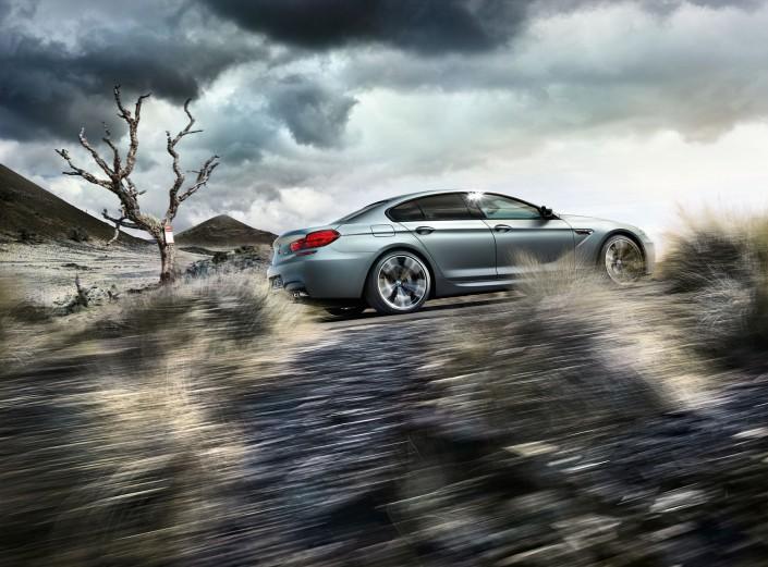 BMW M6 Gran Coupé Mattlack - Hawaii 3 ist ein Composing der Schalterhalle Postproduktion und Tobias Winkler - Bildbearbeitung München.
