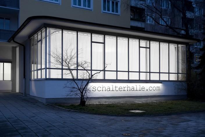 Mietstudio München Schalterhalle Aussenansicht