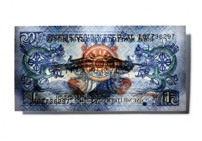 BHUTAN_V11 - Geldschein ist ein Kunst Retusche Projekt der Schalterhalle Postproduktion und Tobias Winkler - Bildbearbeitung München.