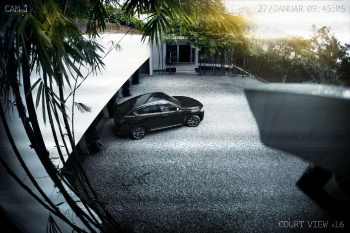 BMW X6 - Miami 04 ist ein Car Look Composing der Schalterhalle Postproduktion und Tobias Winkler - Bildbearbeitung München.
