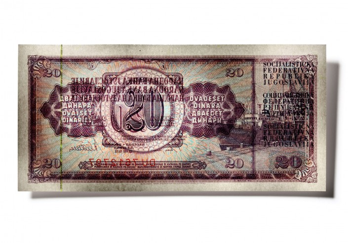 JUGOSLAWIEN_R04 - Bank Note is a fine art retouching project by Schalterhalle post production and Tobias Winkler Imaging.