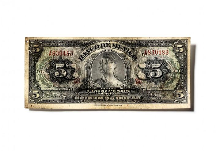 MEXIKO_V03 - Geldschein ist ein Kunst Retusche Projekt der Schalterhalle Postproduktion und Tobias Winkler - Bildbearbeitung München.