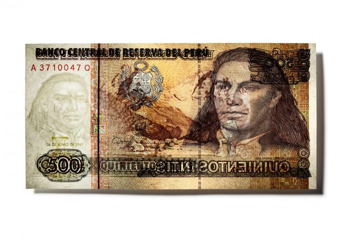 PERU_V02 - Geldschein ist ein Kunst Retusche Projekt der Schalterhalle Postproduktion und Tobias Winkler - Bildbearbeitung München.