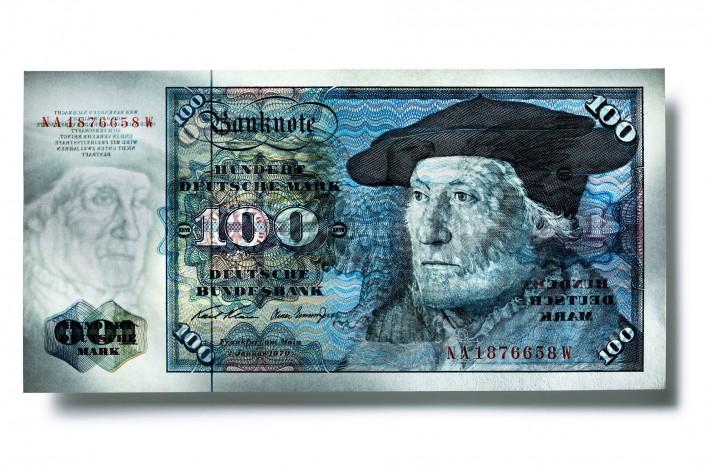 SK_100_MARK_1970_V05 - Geldschein ist ein Kunst Retusche Projekt der Schalterhalle Postproduktion und Tobias Winkler - Bildbearbeitung München.