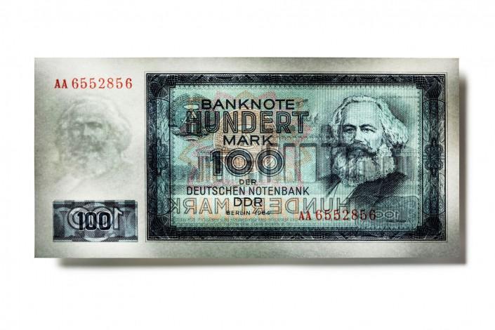 SK_DDR_V03 - Geldschein ist ein Kunst Retusche Projekt der Schalterhalle Postproduktion und Tobias Winkler - Bildbearbeitung München.