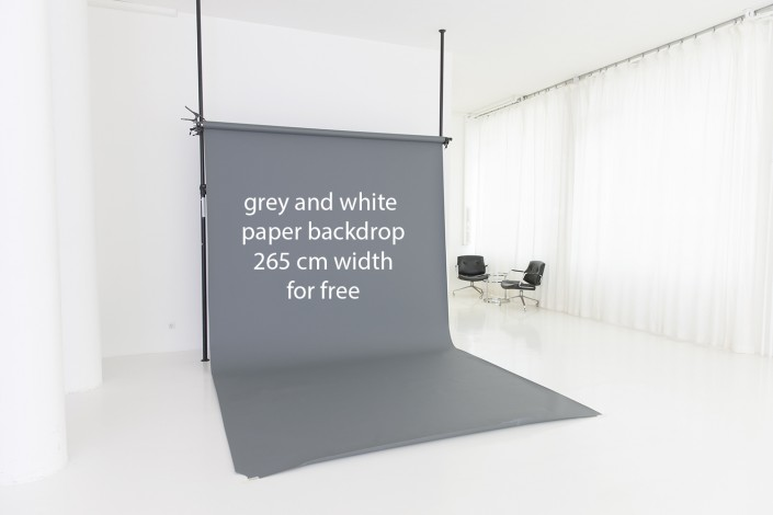 Paper Backdrop|Hohlkehle Mietstudio München
